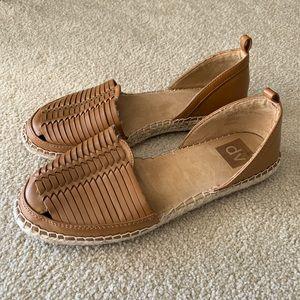 Dolce Vita Woven Brown Espadrille Sandals